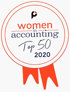Women in Accounting Top 50 in 2020 badge